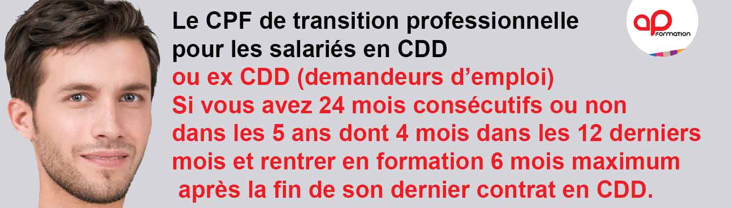 CPF DE TRANSITION PROFESSIONNELLE CDD