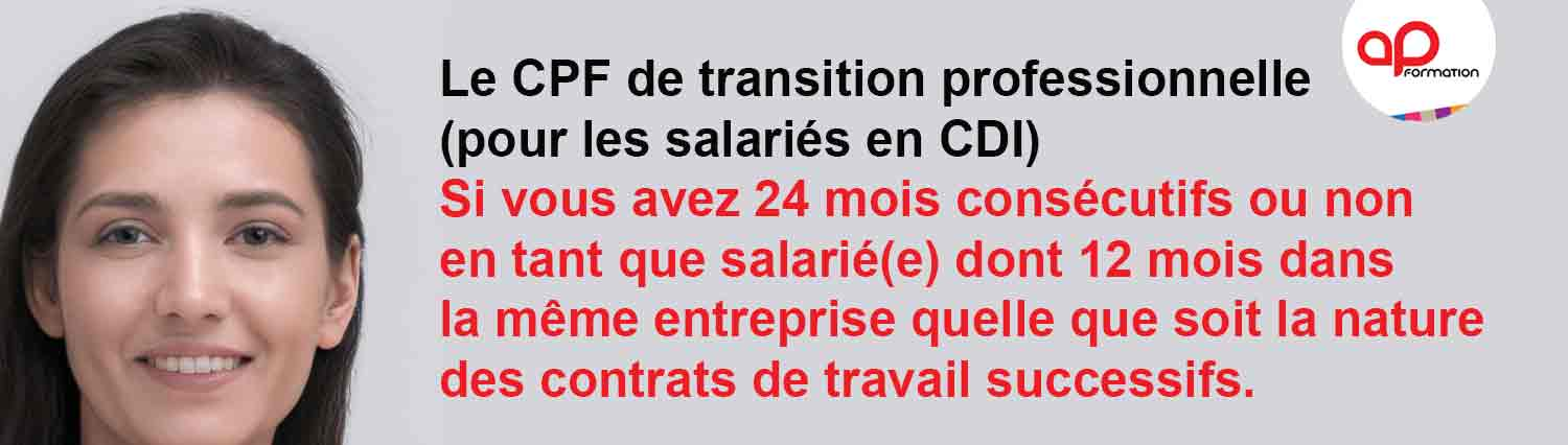 CPF DE TRANSITION PROFESSIONNELLE